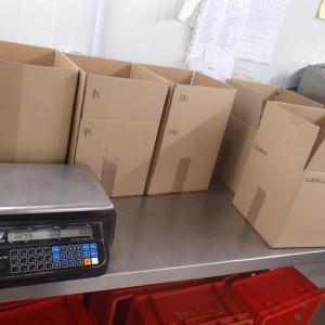 préparation caissette viande
