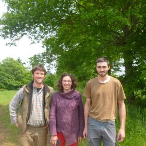 Les 3 repreneurs de la ferme : Arnaud, Joannie et Thomas